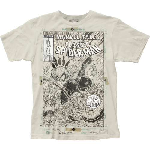 Image for Spider-Man Subway T-Shirt - Cover Sketch Big Print