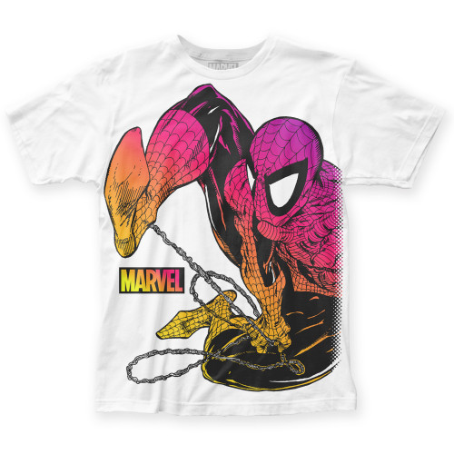 Image for Spider-Man Subway T-Shirt - Chromatic Big Print