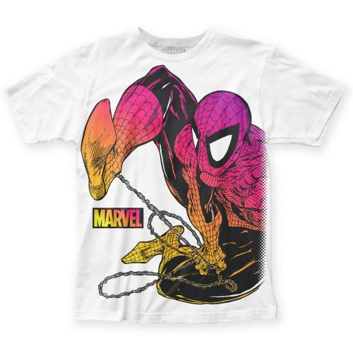 Image for Spider-Man Subway T-Shirt - Chromatic Big Print