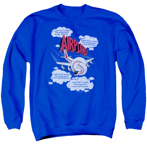 Image for Airplane Crewneck - Looks Like I Picked the Wrong Week...