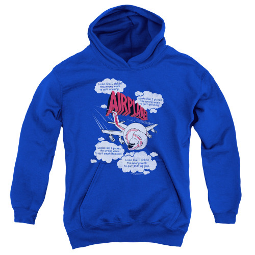 Image for Airplane Youth Hoodie - Looks Like I Picked the Wrong Week...