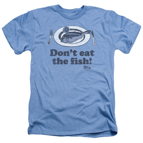 Image for Airplane Heather T-Shirt - Don't Eat the Fish
