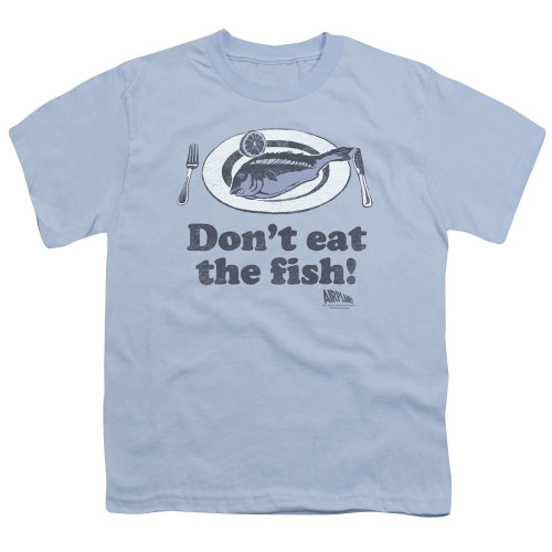 Image for Airplane Youth T-Shirt - Don't Eat the Fish