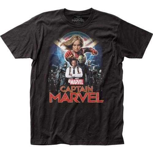 Image for Captain Marvel T-Shirt - Group Shot