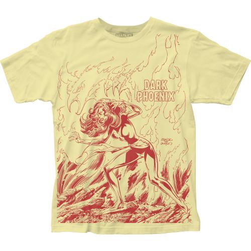 Image for X-Men Subway T-Shirt - Dark Phoenix Rises Big Print