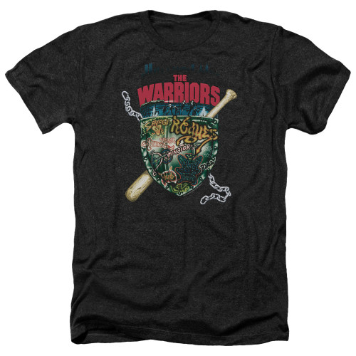 Image for The Warriors Heather T-Shirt - Shield