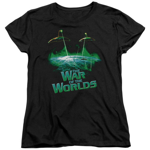 Image for War of the Worlds Womans T-Shirt - Global Attack
