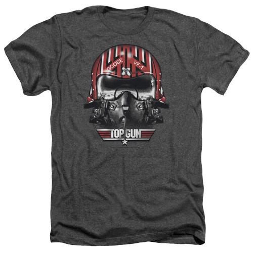 Image for Top Gun Heather T-Shirt - Goose Helmet