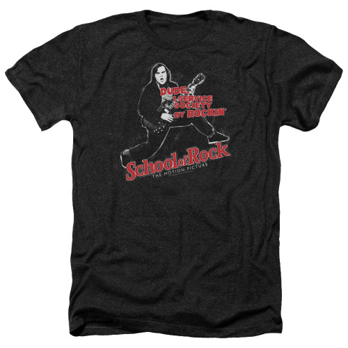 Image for School of Rock Heather T-Shirt - Rockin'