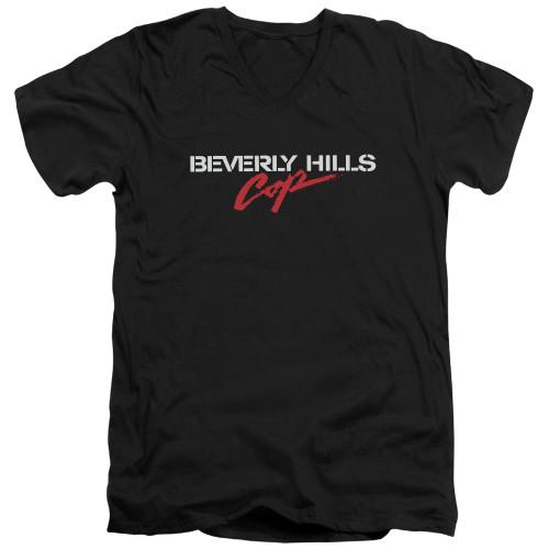 Image for Beverly Hills Cop V Neck T-Shirt - Logo