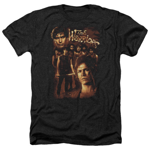 Image for The Warriors Heather T-Shirt - 9 Warriors