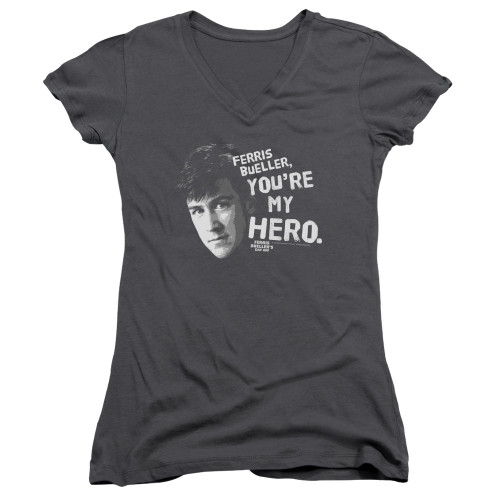 Image for Ferris Bueller's Day Off Girls V Neck - My Hero