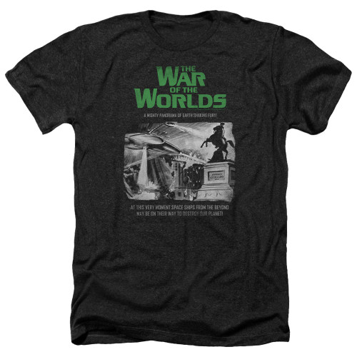 Image for War of the Worlds Heather T-Shirt - Attack People Poster