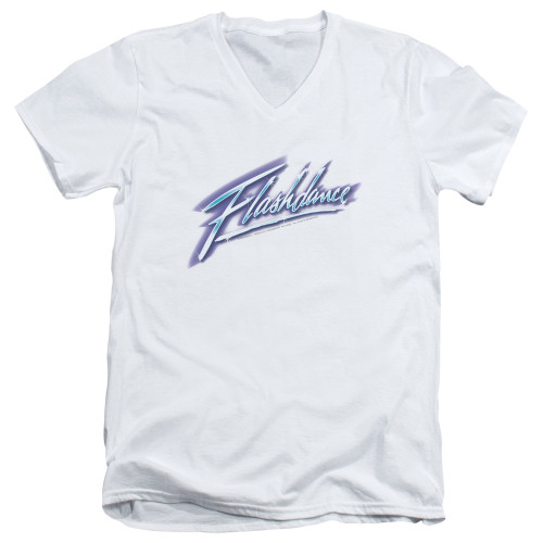 Image for Flashdance V Neck T-Shirt - Logo