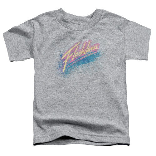 Image for Flashdance Spray Logo Poster Toddler T-Shirt