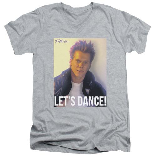 Image for Footloose V Neck T-Shirt - Let's Dance