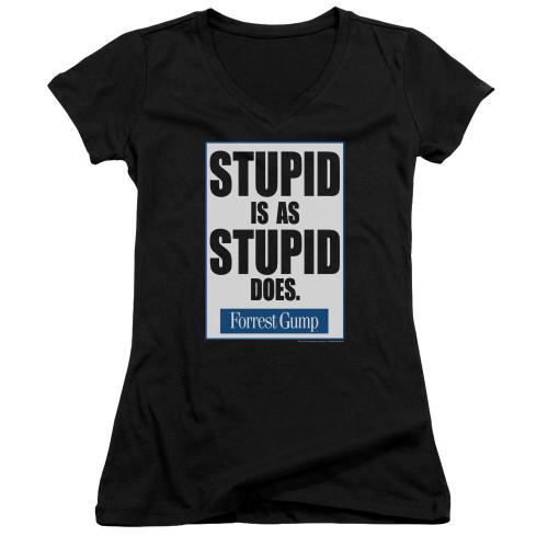 Image for Forrest Gump Girls V Neck - Stupid is as Stupid Does