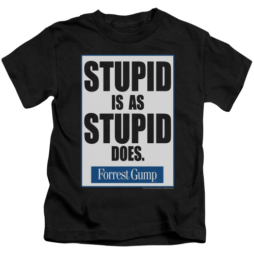Image for Forrest Gump Stupid is as Stupid Does Kid's T-Shirt