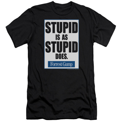 Image for Forrest Gump Premium Canvas Premium Shirt - Stupid is as Stupid Does