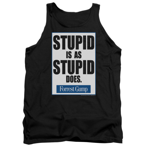 Image for Forrest Gump Tank Top - Stupid is as Stupid Does