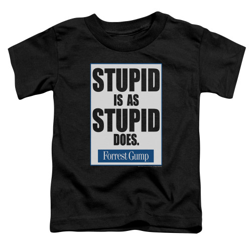 Image for Forrest Gump Stupid is as Stupid Does Poster Toddler T-Shirt