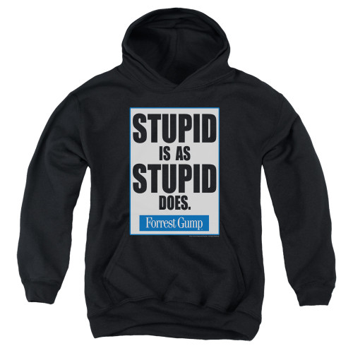 Image for Forrest Gump Youth Hoodie - Stupid is as Stupid Does