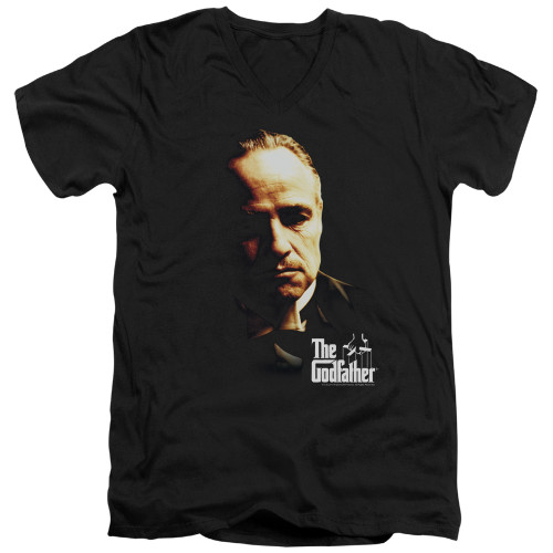 Image for The Godfather V Neck T-Shirt - Don Vito
