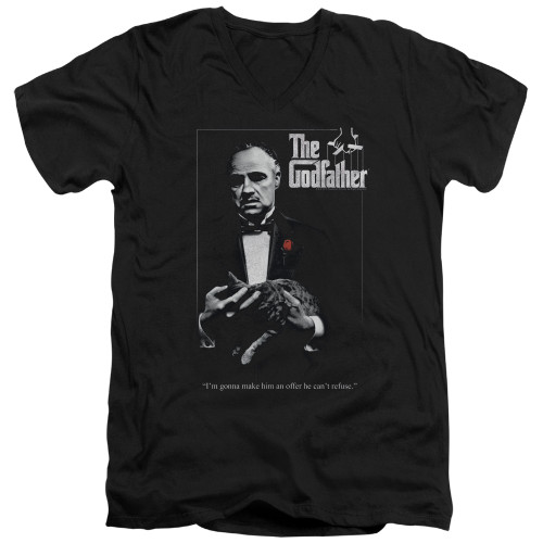 Image for The Godfather V Neck T-Shirt - Poster
