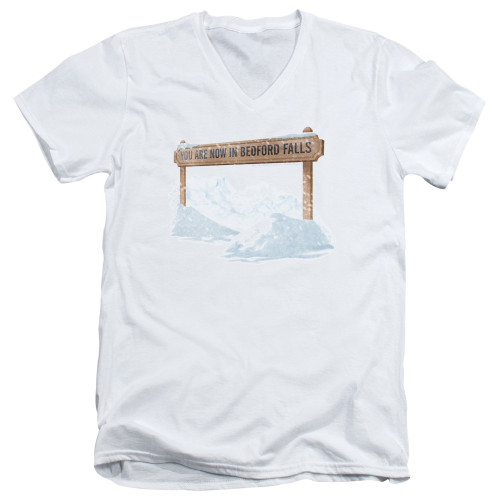 Image for It's a Wonderful Life V Neck T-Shirt - Beford Falls
