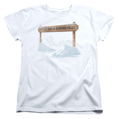 Image for It's a Wonderful Life Womans T-Shirt - Beford Falls