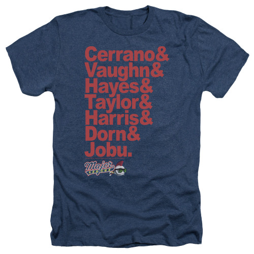 Image for Major League Heather T-Shirt - Team Roster