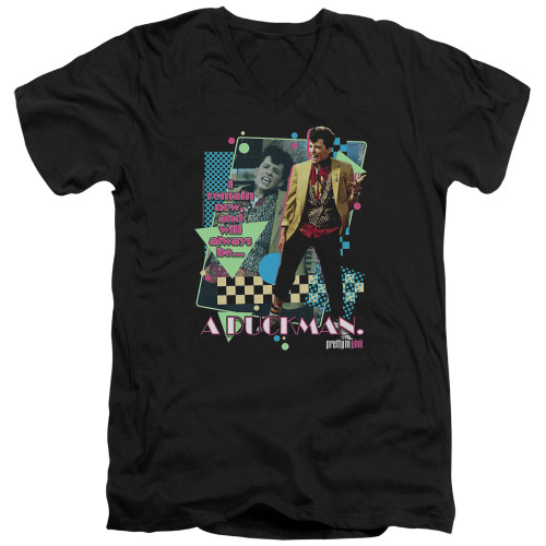 Image for Pretty in Pink V Neck T-Shirt - A Duckman