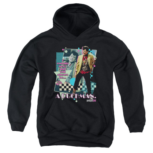 Image for Pretty in Pink Youth Hoodie - A Duckman