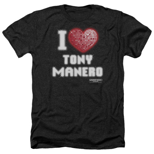 Image for Saturday Night Fever Heather T-Shirt - I Heart Tony