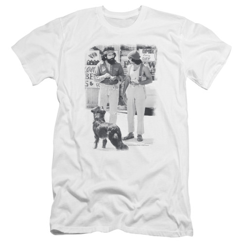 Image for Up in Smoke Premium Canvas Premium Shirt - Chech & Chong Dog