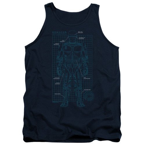 Image for Robocop Tank Top - Schematic
