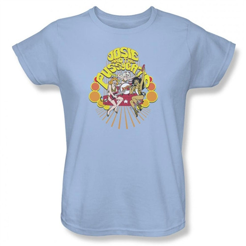 Image for Josie and the Pussycats Groovy Rock & Roll Woman's T-Shirt