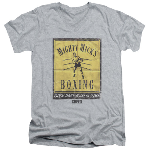 Image for Creed V Neck T-Shirt - Mick's Poster
