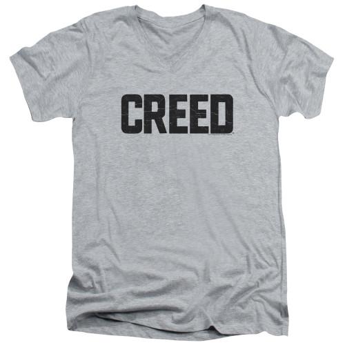 Image for Creed V Neck T-Shirt - Block Logo