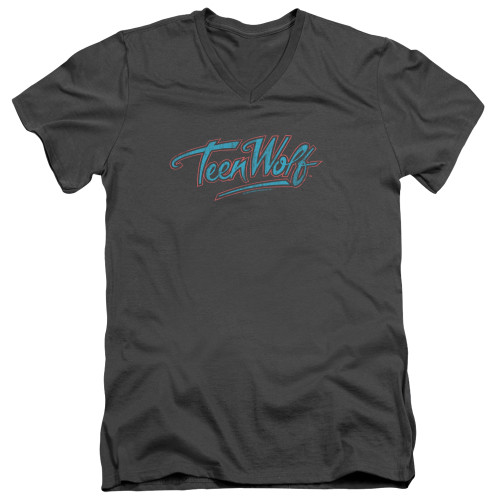 Image for Teen Wolf V Neck T-Shirt - Neon Logo