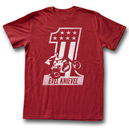 Image for Evel Knievel T-Shirt - Red One