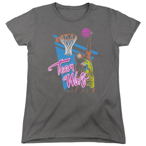 Image for Teen Wolf Womans T-Shirt - Slam Dunk