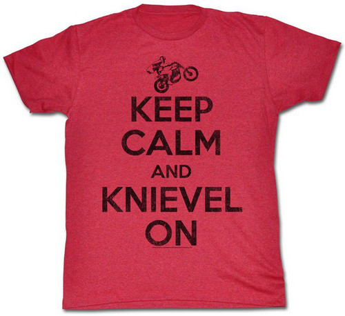 Image for Evel Knievel T-Shirt - Keep Calm and Knievel On