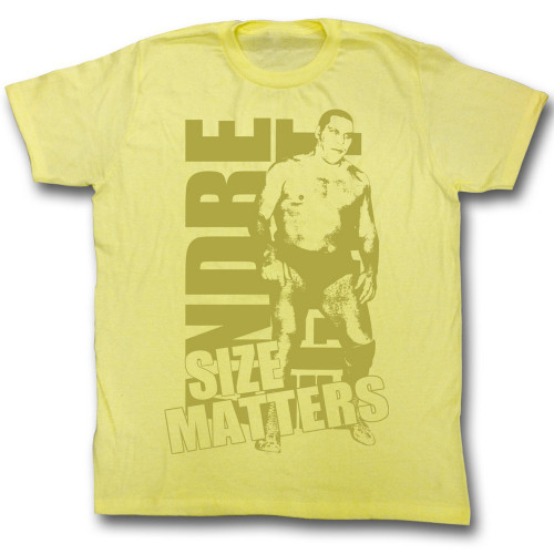 Image for Andre the Giant T-Shirt - Size Does Matter