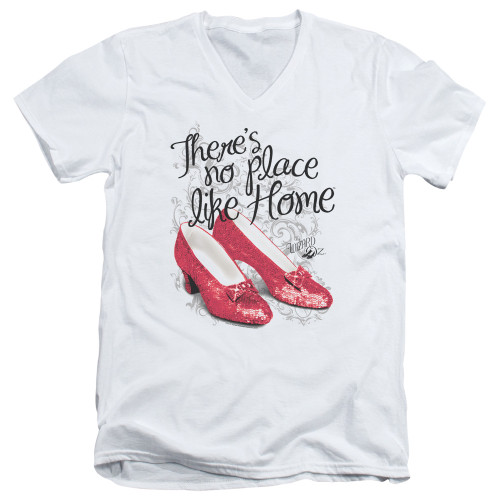 Image for The Wizard of Oz V Neck T-Shirt - Ruby Slippers