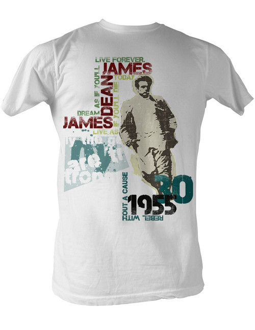 Image for James Dean T-Shirt - Dean Typography