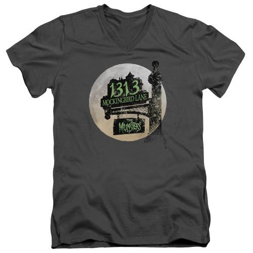 Image for The Munsters T-Shirt - V Neck - Moonlit Address