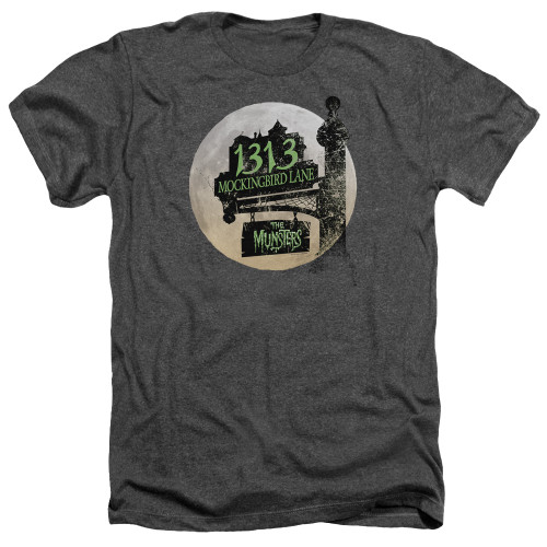 Image for The Munsters Heather T-Shirt - Moonlit Address