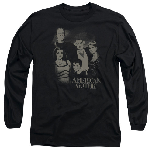 Image for The Munsters Long Sleeve T-Shirt - American Gothic