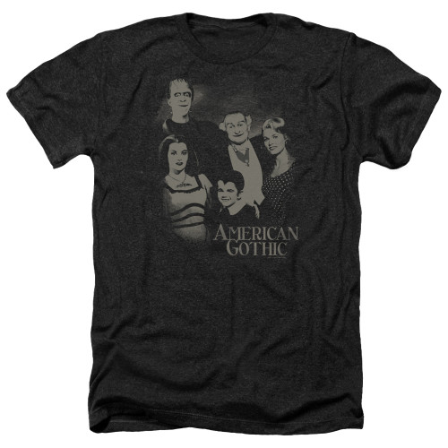 Image for The Munsters Heather T-Shirt - American Gothic